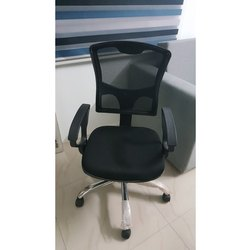 Black Office Mesh Revolving Chair