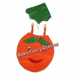 Kids Smiley Orange Cutout Costume