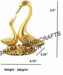 Swan Pair Gold Plated
