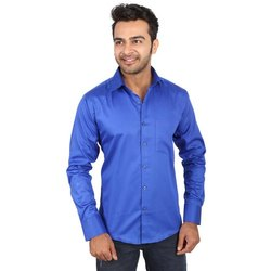 Plain 40.0 Regza Mens Blue Shirt
