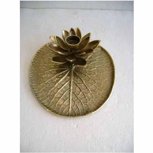 Kreative Arts Brass Antique Lotus Leaf Pooja Thaali Rs 3600 Piece