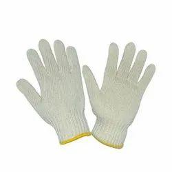 当地白色棉织手套