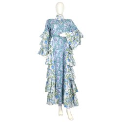 10 Cotton Hand Printed Women's Long Dress India DB27