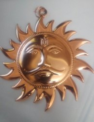 Kesar Zems Copper Vastu Dokra Wall Hanging Sun Mask