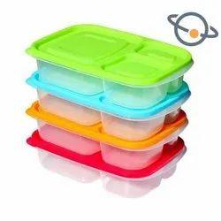 Colored Plastic Lunch Box