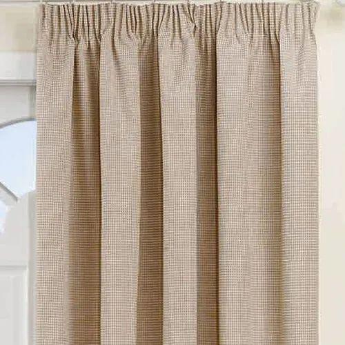 Brown Cotton Plain Door Curtain