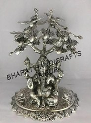 Silver Plated Ganesh Tree