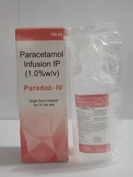 Paradaz infusion Paracetamol 1000mg infusion, Packaging Size: 100ml, Packaging Type: 100ml