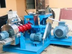 Single Screw Floating Fish Feed Extruder