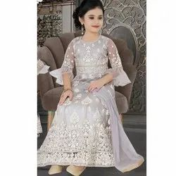 Georgette Party Wear Girls Designer Frock Suit