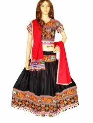 Black Rayon kutch Embroidered Chaniya Choli
