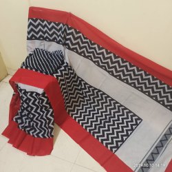 Bagru Ikkat Print Cotton Mulmul Saree