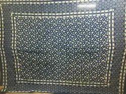 Handblock Indigo Blue Double Bedsheets