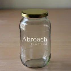 1000ml Glass Storage Jar, Grade: Food Grade