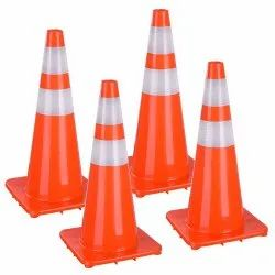 Orange PVC Traffic Cones, For Road Safety