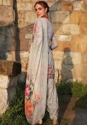 Pastel Grey Embroidered Patiala Kameez