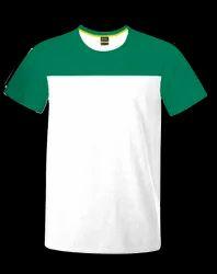 Proidentity Premium Cotton Round Neck-White - Seagreen T- Shirt