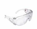 White Plastic 3m-1611 Eye Protection Glasses With Clear Lens, Transparent