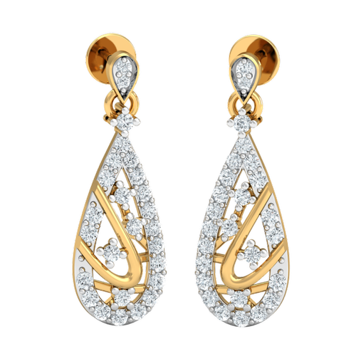 7c506bbfd Teardrop Diamond Earrings, Packaging Type: Box, Rs 41566 /piece | ID ...
