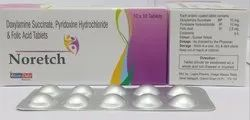 Doxylamine Succinate 10mg Vitamin B6 10mg Folic Acid 2.5mg