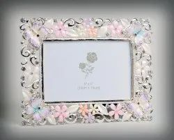 Butterfly Enameled Crystal Photo Frame