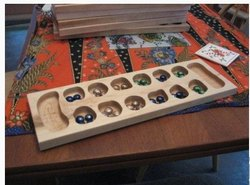 Brown Mancala Wooden Board Game