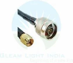 RF Cable Assemblies N Male to RP SMA Male in LMR 400