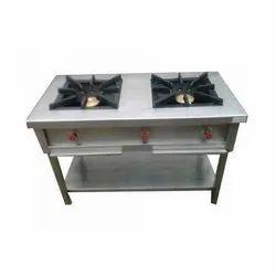 Stainless Steel Double Burner Range
