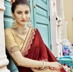 Beautiful Designer Chanderi Silk Saree