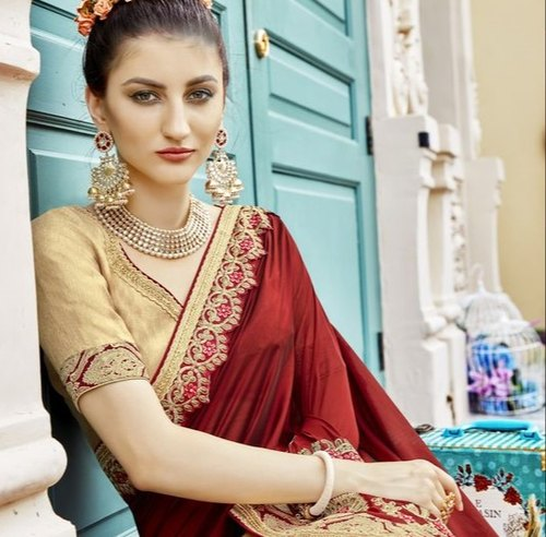 a7a713b9c4 Designer Saree - Banarasi Silk Formal Wear And Party Wear Designer ...
