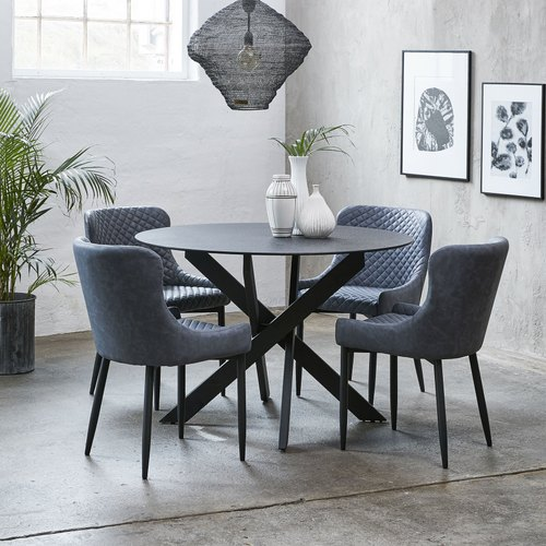 4 Seater Round Dining Table Set At Rs, Round Dining Set For 4