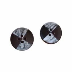 Round Simple Plastic Shirt Button, Packaging Type: Packet