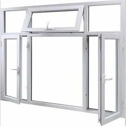 White Powder Coated Aluminium Casement Window, For Residential, Size/Dimension: 5x6 Feet