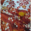 Ladies Digital Floral Print Linen Saree