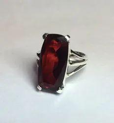 Sterling Silver 92.5 Red Garnet Gemstone Ring