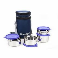 Stainless Steel Violet Executive Steel Big Lunch Box