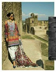 Al-Zohaib Pure Lawn With Embroidery Suits