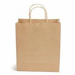 普通棕色牛皮纸购物袋,容量:5-8公斤