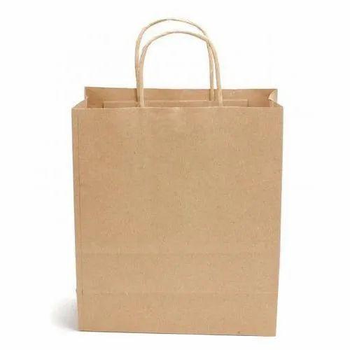 Plain Brown Kraft Paper Shopping Bags, Capacity: 5- 8 kg, Rs 5 /piece | ID: 22067805591