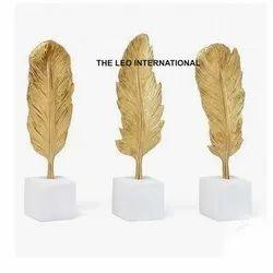 Golden Leaf Sculpture