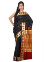Baluchari Handloom Silk Saree ( Cm2701, Black )