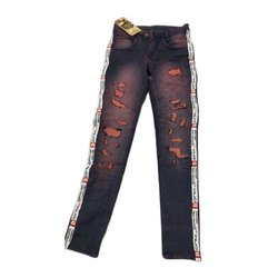 Stretchable Regular Women Denim Jeans, Waist Size: 28-38