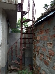 Cast Iron Spiral Stair, 10ft Height