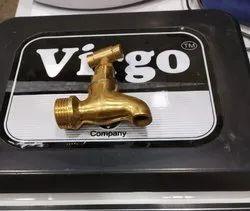 Diffrent Size Golden Brass Taps / Brass Bib Cock, Size: Variable