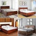 Modern Brown Sheesham Bed