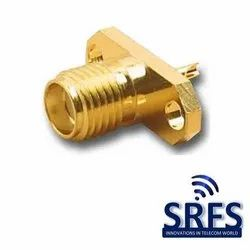 SMA Female 2 Hole Connector for RG 58, RG 223 Cable