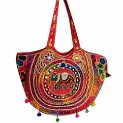 Ethnic Arts Casual Wear Cotton Embroidered Shoulder Bag