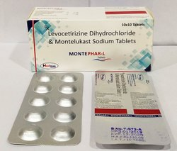 Montelukast Sodium 10mg   Levocetrizine 5mg Tablet