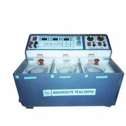 Three Bicker Rhodium Plating Machine