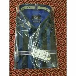 Micro Regular Wear Mens Casual Cotton Shirt, Packaging Type: Packet, Size: 42 Cm